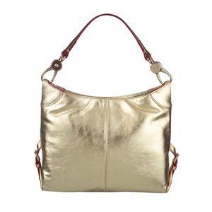 Dooney & Bourke Metallic Leather Small Sac Bag